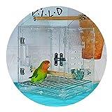 Gabbie Incubatrice per Pappagalli Terrario di Pappagalli Uccelli Portatile da Viaggio Uccelli in Acrilico Uccelli Trasparente Portatile (Color : Clear, Size : 23 * 23 * 27cm)