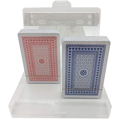 najayco Jeu De Cartes,Lot de 2 Jeux de 56 Cartes à Jouer ,Playing Cards(1 Bleu et 1 Rouge)
