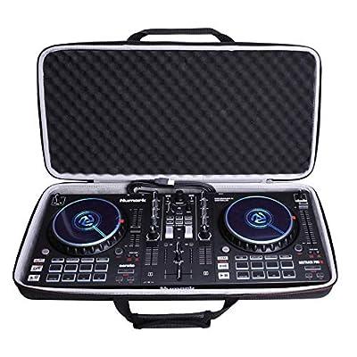 LTGEM Case for Numark Mixtrack Platinum FX DJ Controller,Hard EVA Storge Bag-Black(White Lining)