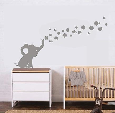 Attrayant Les Bulles U0027Eléphant Stickers Muraux Autocollants De Bricolage Décoration  Bébé Mur Autocollants (Gris)
