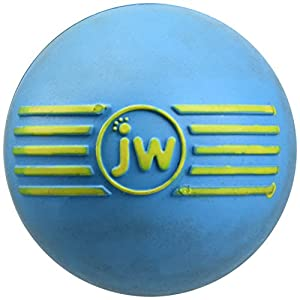 JW Pet Company iSqueak Ball Rubber Dog Toy, Assorted Colors