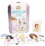 Story Magic Dress-Up Dolls Travel Playset by Horizon Group USA, Pretend Play Magnetic Case, Over 85 Magnet Outfit and Accessory Pieces, On The Go Activity Set, Perfect for Ages 4+
