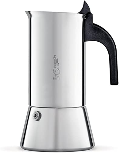 Bialetti Venus Induction 4 Cup Espresso Coffee Maker, Stainless Steel, Pack of 1 product image