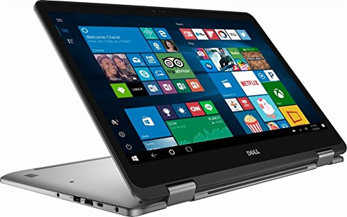 "Dell Inspiron 7000 series 2-in-1 17.3"" FHD Touch-Screen Premium Build Laptop Computer, Intel Core i7-8550U up to 4.0GHz, 16GB DDR4, 512GB SSD + 2TB HDD, 2GB NVIDIA GeForce MX150, Bluetooth, Wifi, Gray"
