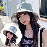 CRCOG Sombrero de la manera coreana hembra sombrero cubo de viajes, ocio sombrero, sombrero de moda, el temperamento literario fresca pequeña UV protector solar sombrero de ala ancha del sombrero del