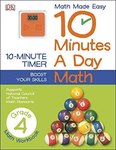 10 Minutes a Day: Math, Fourth Grade: Supports National Council of Teachers Math Standards