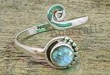 Labradorite Toe Ring - 925 Sterling Silver Feet Body Jewellery Adjustable Toe Ring For Girls Women Gift Jewellery