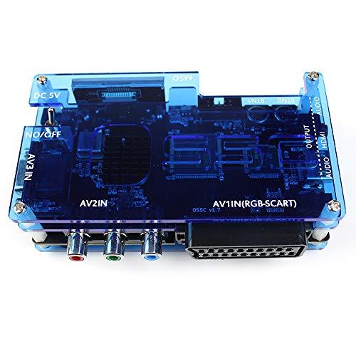 QIC OSSC Open Source Scan Converter LCD 1.6 Kits con componente SCART VGA a HDMI para Consola de Juegos Retro PS2 Sega Megadrive Xbox Wii PC