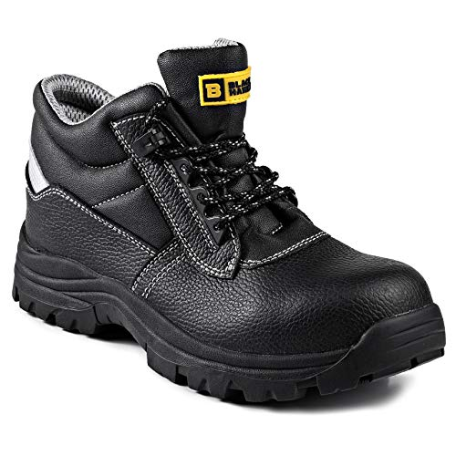 Black Hammer Mens Safety Boots Work Waterproof Leather Composite Toe Cap Kevlar Non Metallic Working Ankle Lightweight Footwear HRO S3 SRC 1111 (12 US)