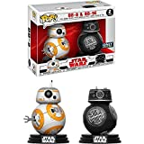 Funko BB-8 & BB-9E (Best Buy Exclusive) POP! x Star Wars - The Last Jedi Vinyl Figure + 1 Official Star Wars Trading Card Bundle (23279)