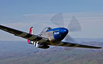 Posterazzi PSTSGR100095M A P-51D Mustang in flight over Hollister California Poster Print, 17 x 11