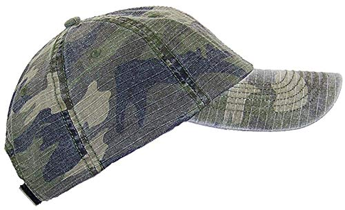 Mega Cap MG Unisex Unstructured Ripstop Camouflage, Camo, Size One Size