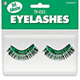 Amscan Tinsel Eyelashes, Party Accessory, Green
