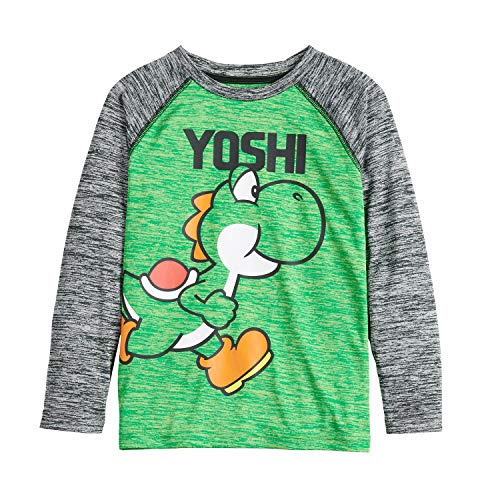 Jumping Beans Boys 4-12 Mario & Yoshi Active Graphic Tee 8 Lime