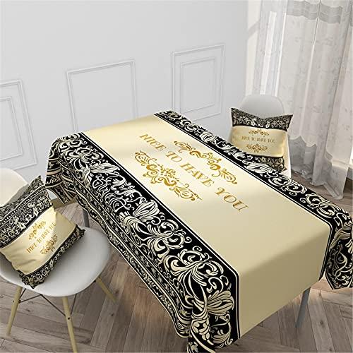 SUNFDD Tovaglia in Lino Cotone Stile Etnico Personalizzato Tovaglia Rettangolare Modello Semplice Hotel Casa Cucina Tavolino Tovaglia da Esterno Tovaglia da Picnic 140x200cm(WxH) E