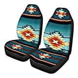FKELYI Aztec Tribal Car Seat Cover 2 Piece/Set Saddle Blanket Carseat Universal Fit for Vehicle Sedan SUV