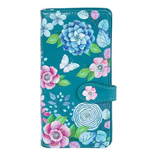 Shagwear Junge-Damen Geldbörse, Large Purse: Verschiedene Farben und Designs: (Aquarell Blumen/Water Colours Floral)