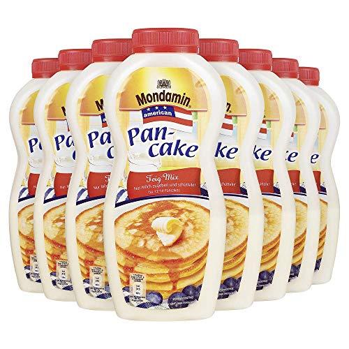 Mondamin Teig-Mix für eine schnelle Zubereitung American Pancake Shaker nach amerikanischer Art., 8 x 215 g