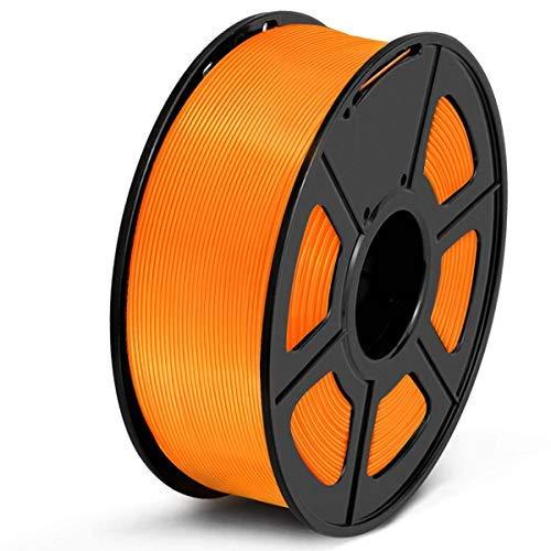 SUNLU Filamento PLA 1.75, Stampante 3D PLA Filamento 1kg Spool Tolleranza del diametro +/- 0,02 mm,PLA Arancione