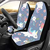 Web--ster-Cars seat covers Fundas para Asientos de Coche Unicornio Cute Child...
