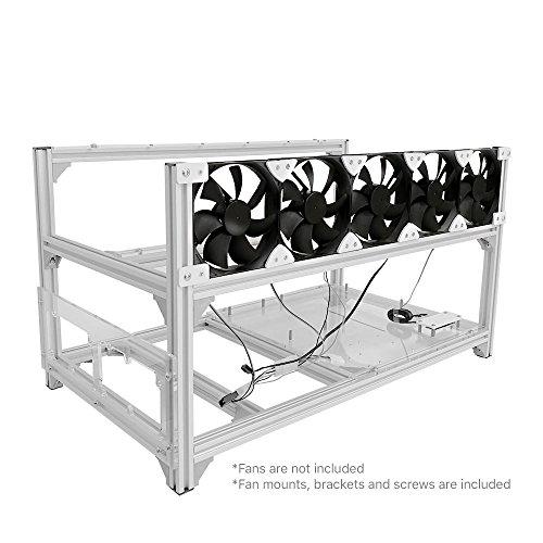 Baseltek 6 GPU Aluminum Mining Rig Open Air Frame Case