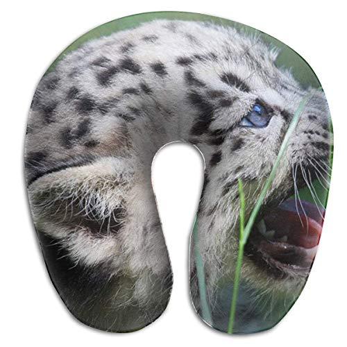 Hdadwy Almohada en Forma de U Cuello Leopardo Bebé Viaje Almohada Multifuncional Coche Avión