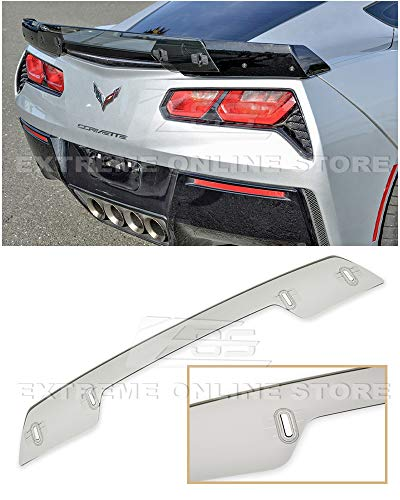 Extreme Online Store Replacement for 2014-Present Chevrolet Corvette C7   Z06 Z07 Stage 3 Style Rear Trunk Center Wickerbill Spoiler (Light Tinted)