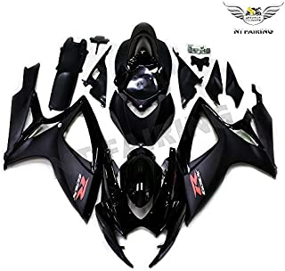 NT FAIRING Glossy Matte Black Injection Mold Fairing kits Fit for Suzuki 2006 2007 GSXR 600 750 K6 GSX-R600 Aftermarket Painted ABS Plastic Motorcycle Bodywork