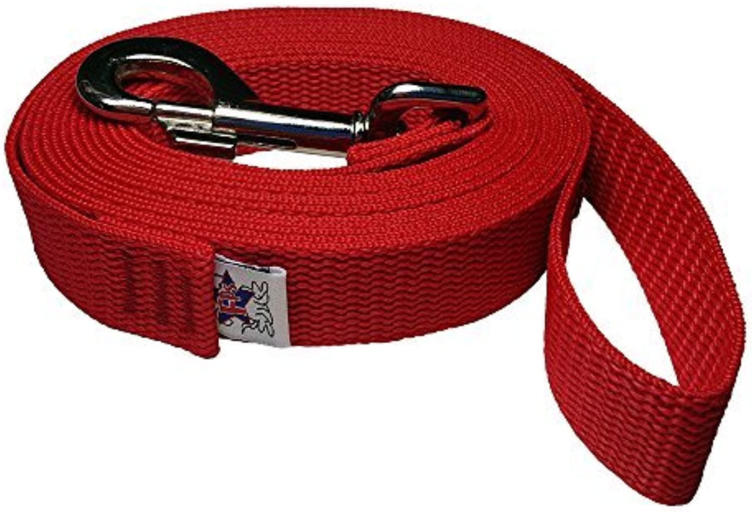 Freedom Pet 1 inch Polypropylene Dog Leash FPSPP50 Select Your Length and color (Firehouse Red, 40 FT) by BeastMaster