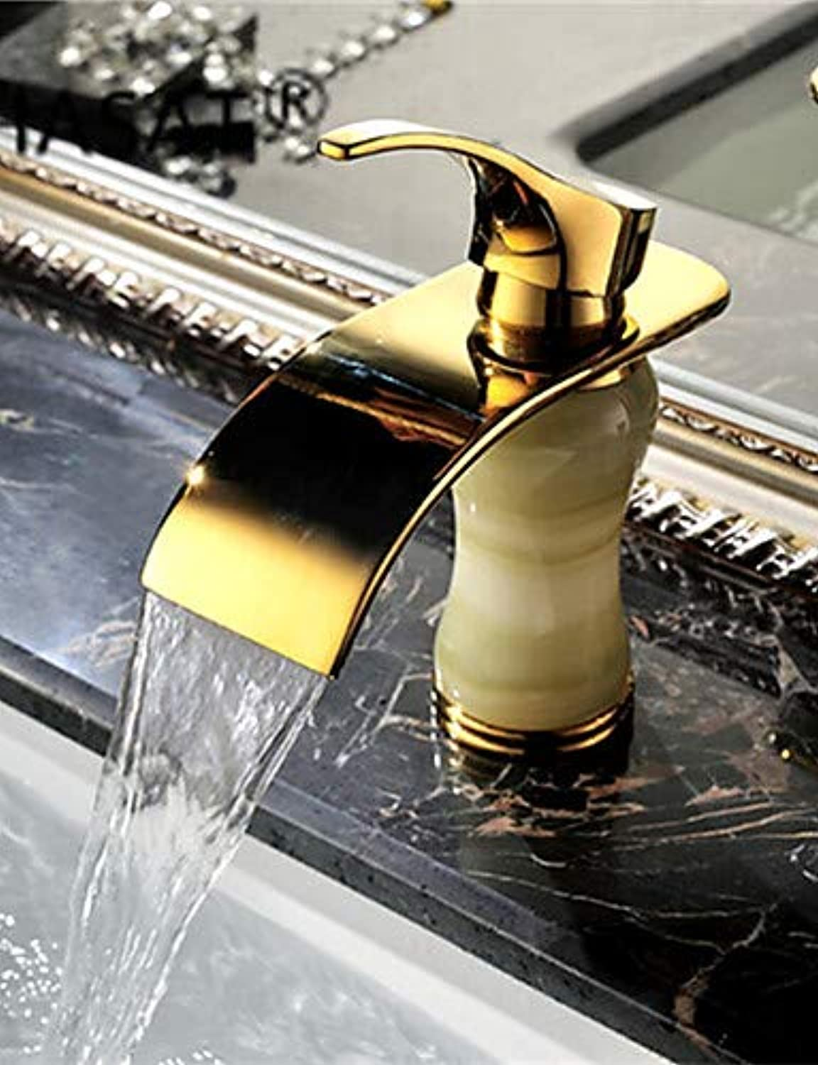 Mainstream home LPZSQ Tap Art Deco Retro Waterfall Brass Ti-PVD  708