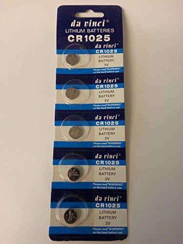 5 x CR1025 3V Lithium Batterie CR 1025 Knopfzelle