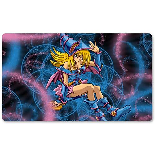 Mana The Dark Magician Girl – Jeu de société Yugioh Tapis de jeu de table 60 x 35 cm Tapis de souris MTG pour Yu-Gi-Oh! Pokémon Magic The Gathering