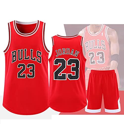 WAZSS Bulls 23# Basketball Jersey-Michael Bulls 23# Boys Jersey Traje, Ropa Deportiva para niños, Chalecos de fanáticos para Hombres y Mujeres (4x-5xl) red-3XL