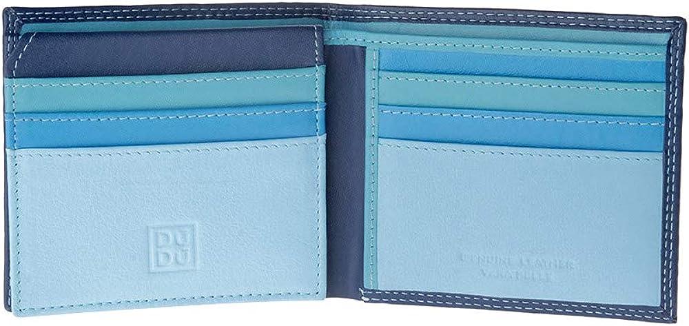 Dudu portafoglio piccolo da uomo multicolore in pelle porta carte di credito 8031847135374