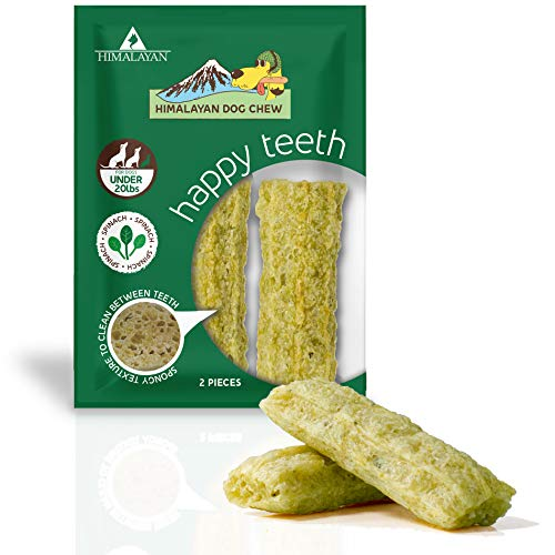 Himalayan Dog Chew Happy Teeth Spinach Flavor Small, 2 Piece