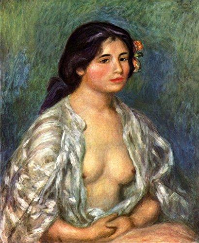 Het Museum Outlet - Gabrielle met open blouse van Renoir - Poster Print Online kopen (60 X 80 Inch)
