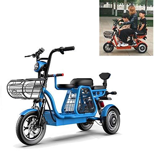 YAUUYA Der ältere Elektroroller Mit DREI Rädern, DREI Bequemen Sitzen, Einer Höchstgeschwindigkeit Von 30 Km/H, Einer Ausdauer Von 120 Km, Einer Tragfähigkeit Von 200 Kg