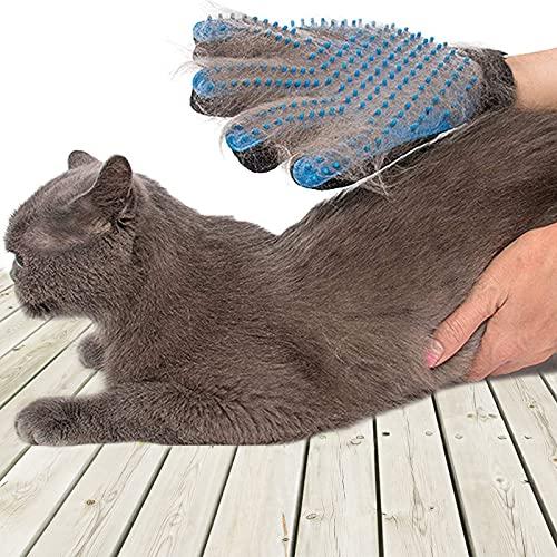 SSRIVER Haustier-Fellpflegehandschuh, Haarentferner, Bürste, sanftes Desheddern, effizientes Haustier-Handschuh, Massagehandschuhe, für Links- und Rechtshänder, für Hunde...