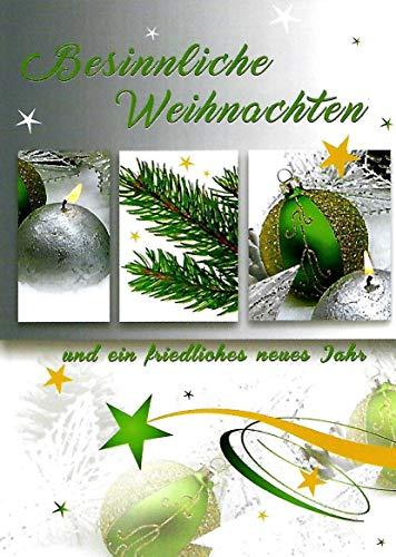 Weihnachtskarten mit Umschlag Set und Neujahrsgrüßen 10 Glückwunschkarten Klappkarten Hochformat Grußkarten Weihnachtsmann Rentier Weihnachtsbaum Santer Claus guten Rutsch Geschäftlich Familie 205