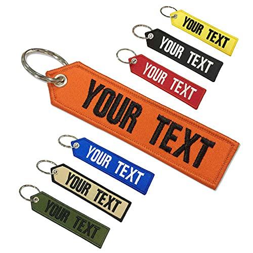 Prsonized Schlüsselbund, anpassbar, für Motorräder, Autos, Geländefahrzeuge, Roller, Stickschlüsselbund für Männer oder Frauen