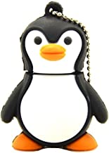High Speed 64GB USB 2.0 Flash Drive - 3D Animal Memory Stick Jump Drive - FEBNISCTE Lovely Penguin Shap Pendrive for Large Storage