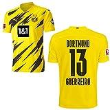 PUMA Borussia Dortmund BVB Heimtrikot 2020 2021 Home Trikot Sponsor BL Logo Herren Raphaël Guerreiro 13 Gr M