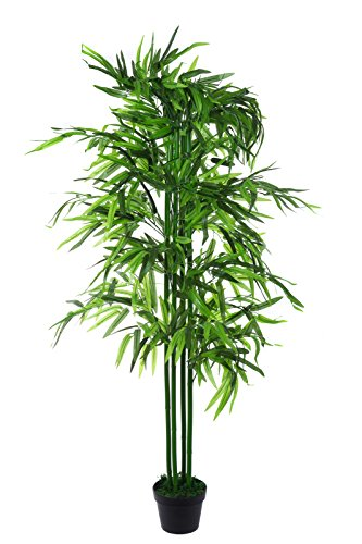 Sarah B XXL Bamboo Bambusbaum JWT129 Riesiger künstlicher Bambus 140 cm hoch, Kunstpflanze, Kunstblume, Kunstbaum, Zimmerpflanze künstlich