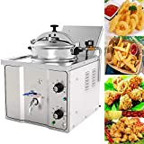 Commercial 304 Stainless Steel Electric Countertop Pressure Fryer 16L Stainless Chicken Fish Electricity-Saving Secure Reliable
