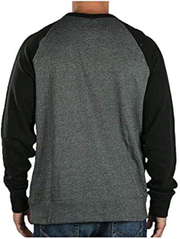 Hurley Men's Crone Textured Fleece Crew Shirt
