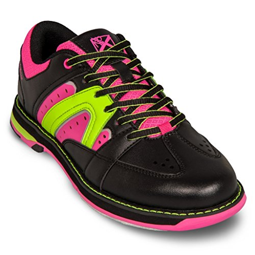 KR Strikeforce Women's Quest Bowling Shoes, Black/Pink/Yellow, 6