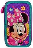 MINNIE Disney Kinder Federtasche Federmappe 21 x 12 cm Federmäppchen für Mädchen zwei große Fächer Doppelreißverschluss 26-teiliges gefüllt