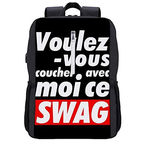 Ce Swag Rucksack Daypack Bookbag Laptop Schultasche mit USB-Ladeanschluss