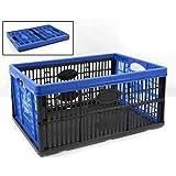 Tontarelli Caja Plegable de plástico 27 x 53 x 37 cm 45 L Color Azul