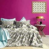 Tagesdecke Bettdecke Set Tropic Island House Print Bequeme Bettwäsche glatt & ohne Schrumpfen